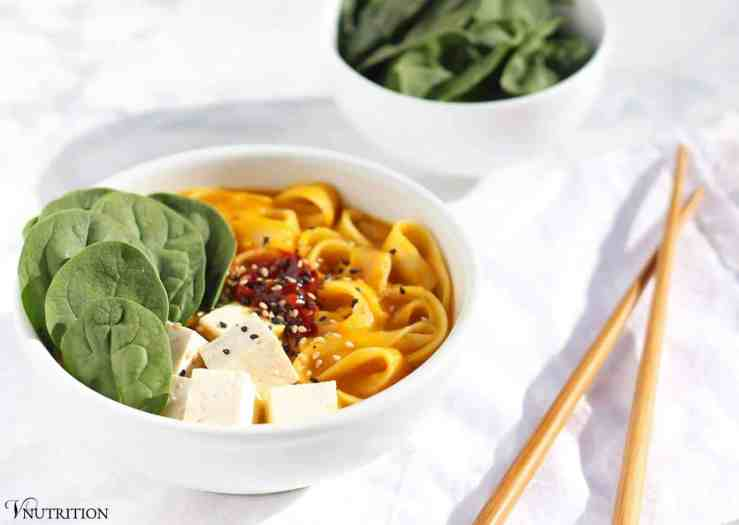 Butternut Squash Noodle Bowl | This Asian-Inspired Butternut Squash Noodle Bowl is a warming dish for chilly nights!