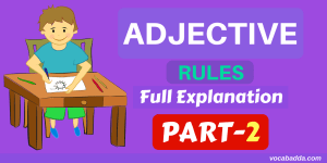 12 Important Adjective Rules with Example Sentences Part-2
