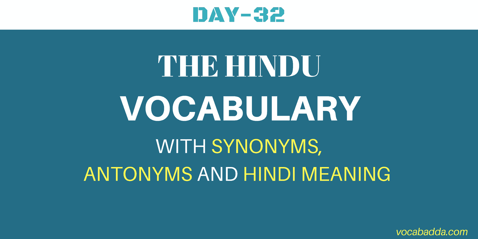 English Vocabulary Words Day-32
