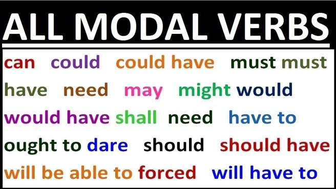 all modal verbs