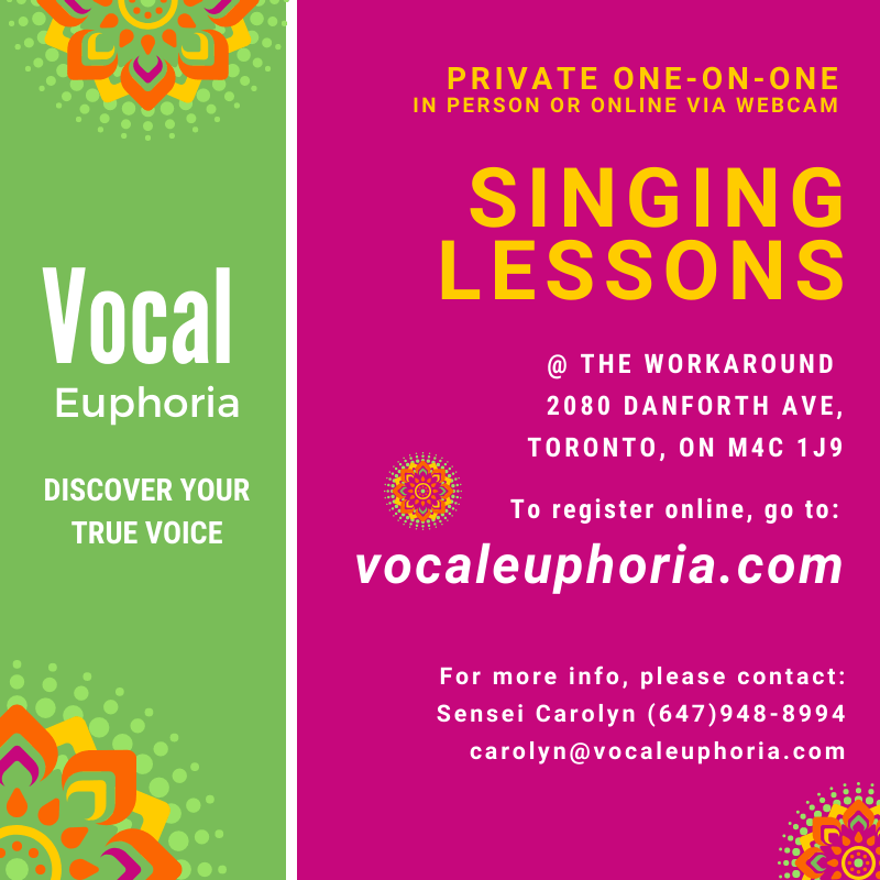 Singing Lessons Private Lessons Carolyn Thompson Master Class Educate Euphoria Elation Enlighten Essentials Energize Intro