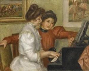 Yvonne et Christine Lerolle au piano - Pierre-Auguste Renoir