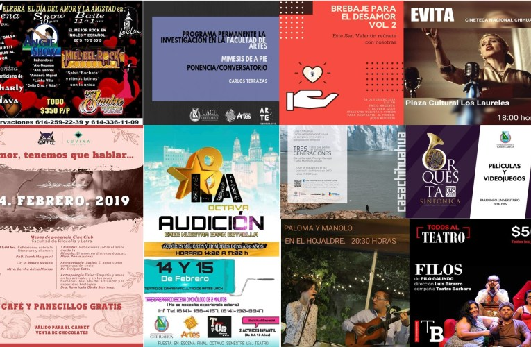 Agenda Cultural 14 de febrero 2019