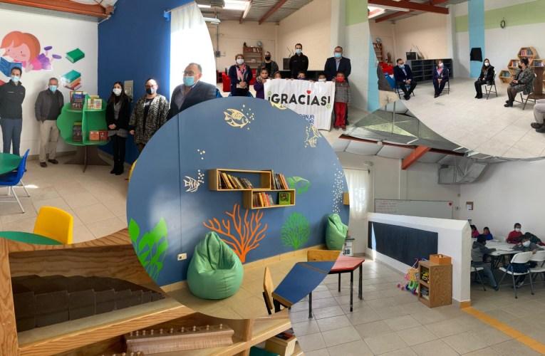 Abren espacio lúdico para lectura y recreación de niños y niñas en la Granja Hogar de Chihuahua