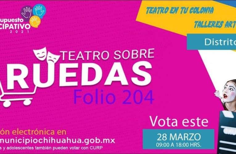 Invitan a votar por el proyecto Teatro sobre Ruedas en Presupuesto Participativo