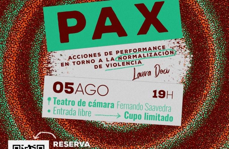 Invita Secretaría de Cultura al performance PAX