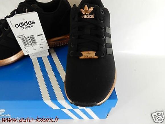 grossiste a4770 520d6 Basket Adidas Zx Flux Noir Et Rose Gold   Unixpaint
