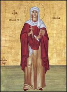 † Sf. M. Mc., întocmai cu apostolii, Tecla; Cuv. Coprie; +Cuv. Siluan Athonitul (Post)