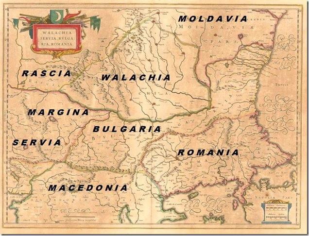 Romania harta veche
