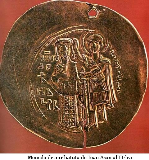 moneda de aur batuta de Ioan Assan II