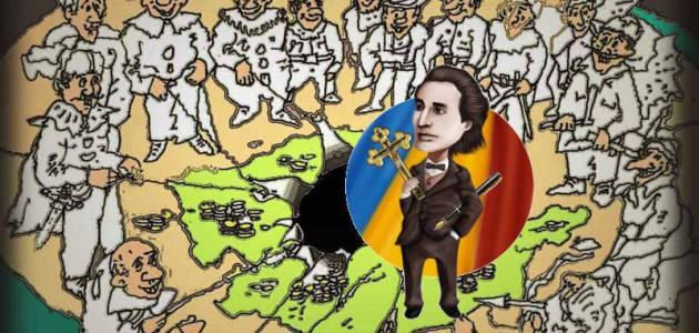 Eminescu aparand Romania cu condeiul si credinta sa