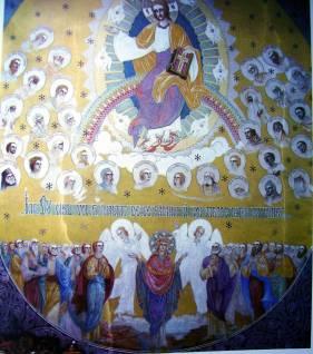 inaltarea pictura bisericeasca de Arsenie Boca