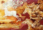 Hunor şi Magor vânează cerbul mitic
