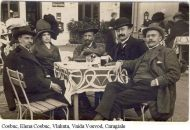 De la stanga la dreapta Cosbuc, Elena, Vlahuta, Vaida, Caragiale