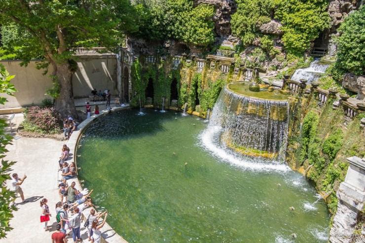 Vila d'Este u Tivoliju - Ovalna fontana