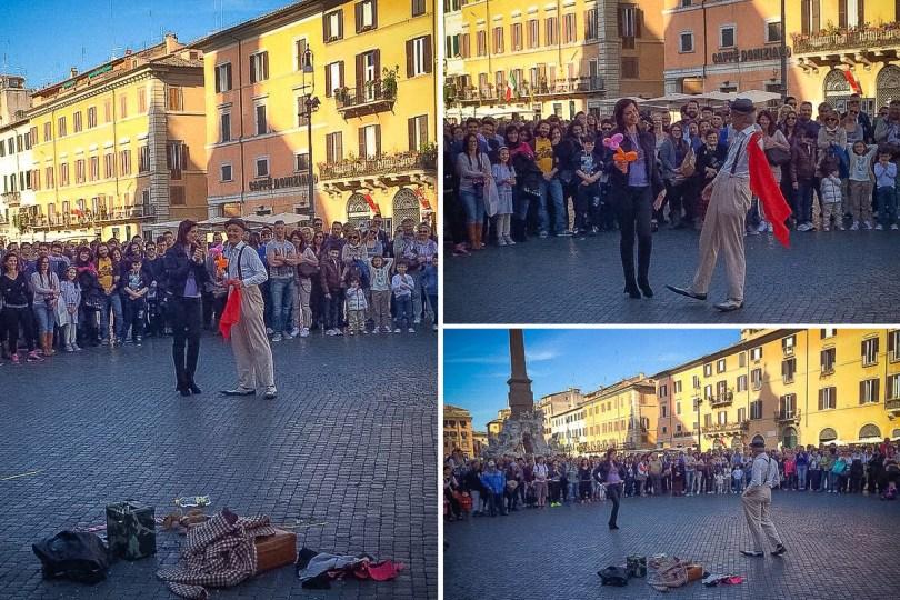 Trg Navona u Rimu - spektakl