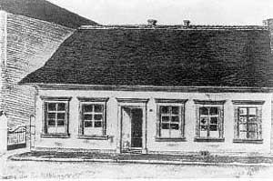 Ein altes, einstöckiges Haus beherbergte 1902 das erste Völklinger Gymnasium in Entwicklung. (Foto: HKW)