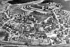 Historisches Luftbild von Fürstenhausen (Quelle Stadtarchiv)