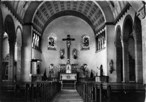 Das Innere der neuen Kirche um 1912.© http://www.warndtdom.de