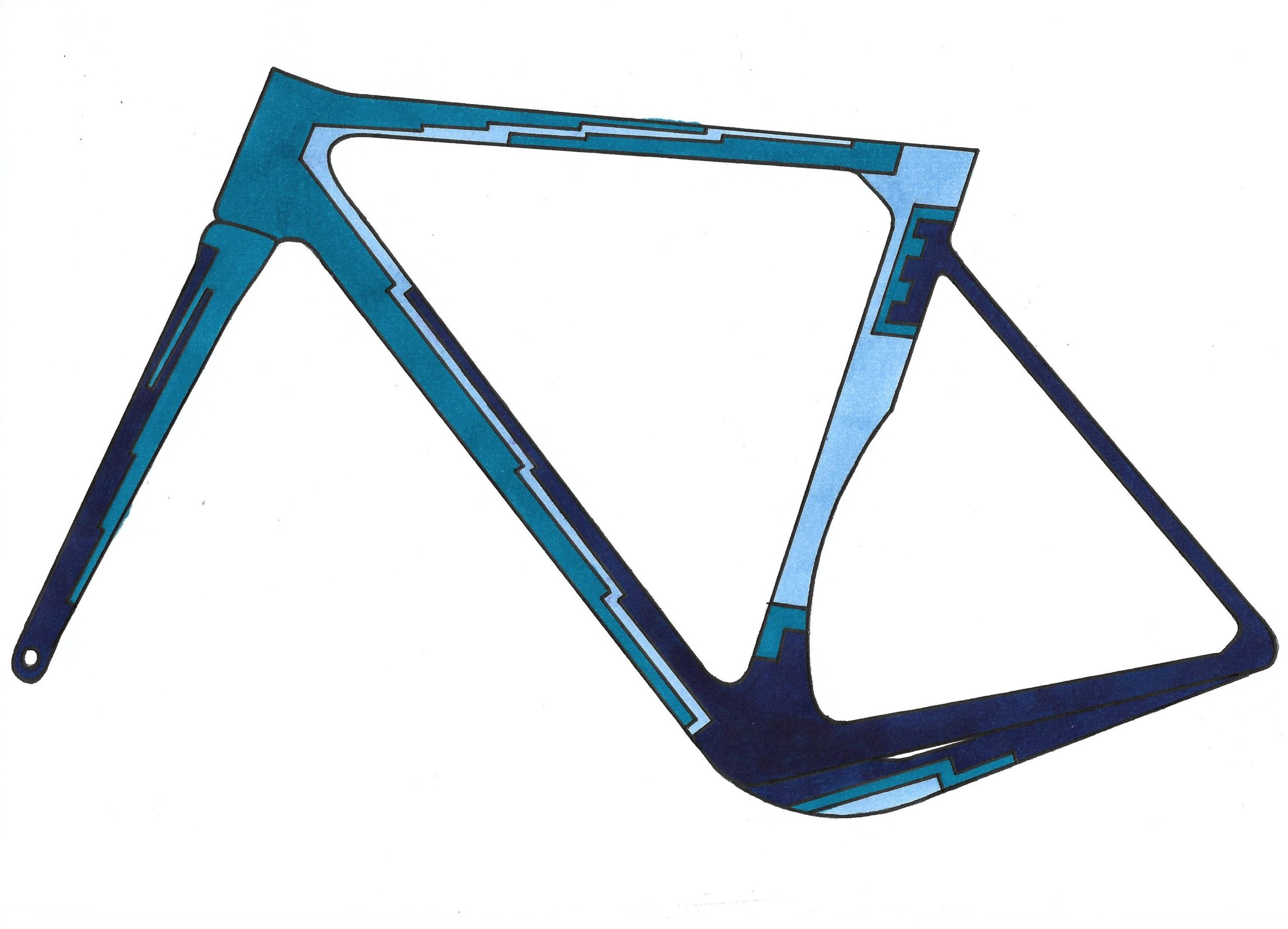 Vogel gravel bike frame design