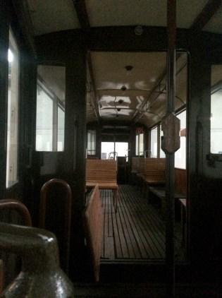 Alte Straßenbahn im Depot Dortmund