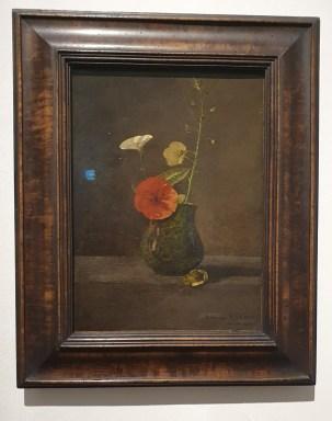 Odilon Redon: Blumenstilleben im grünen Krug, ca. 1866