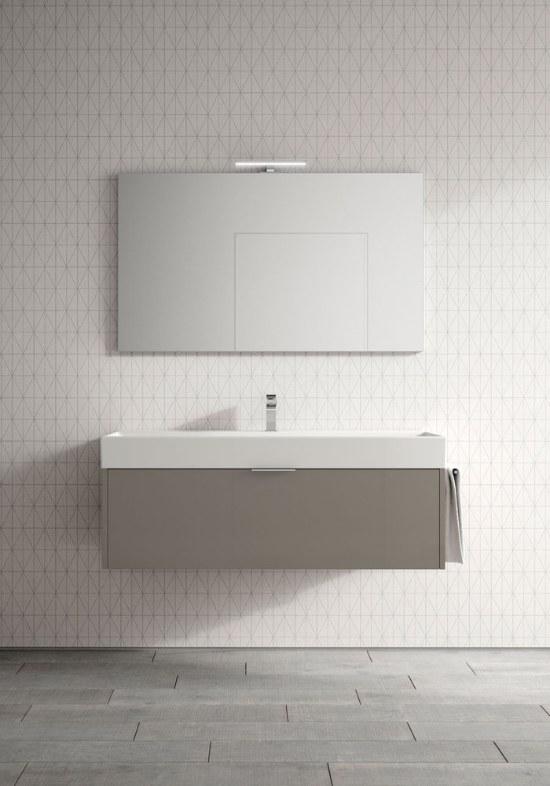 Mobile bagno sospeso stile minimal