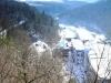 Von der Hainbergbrücke über den Papiermühlenweg hoch zum Köhlersteig