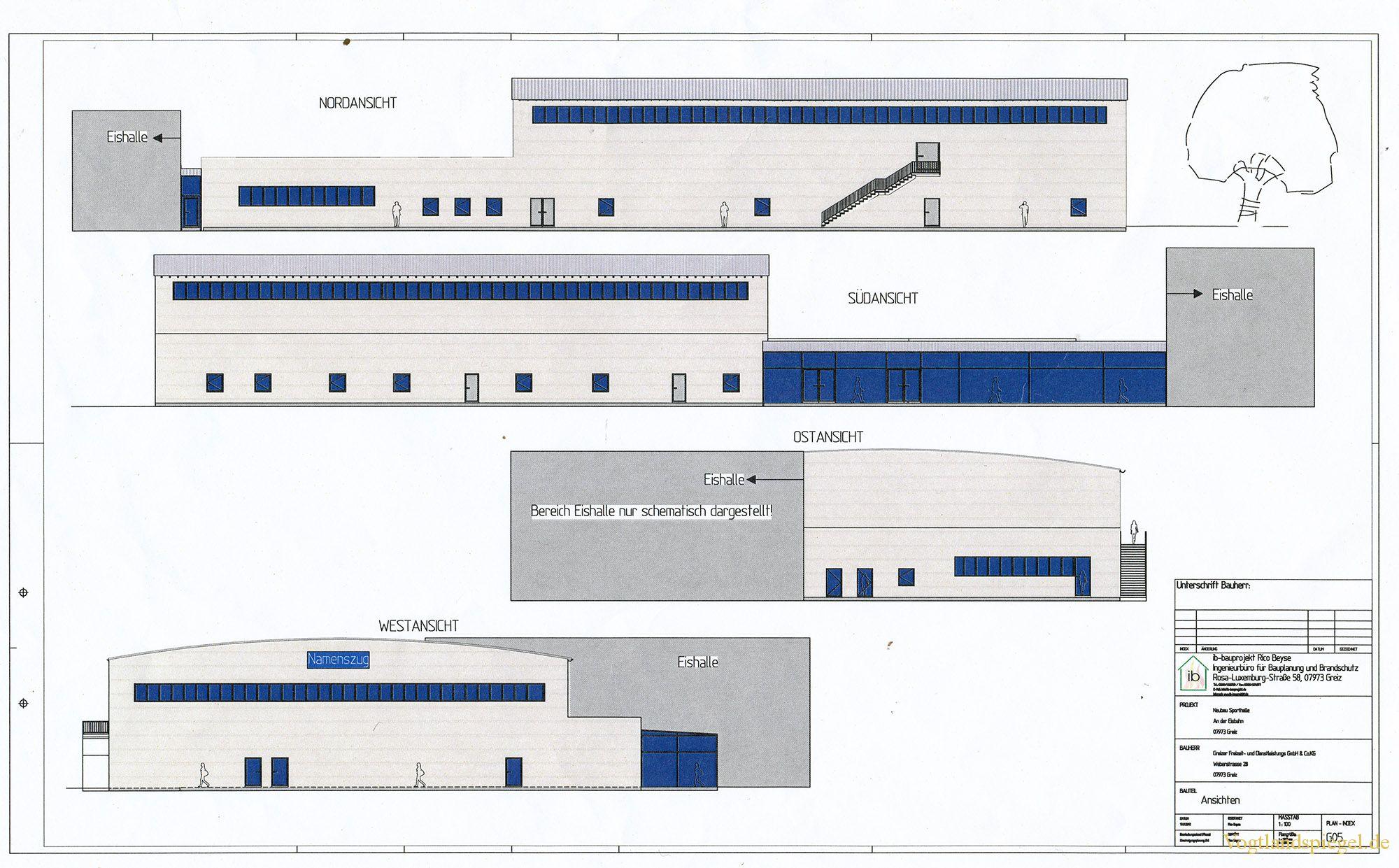Zweifeldersporthalle in Greiz-Aubachtal