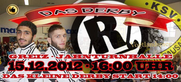 Plakat zum Bundesligakampf
