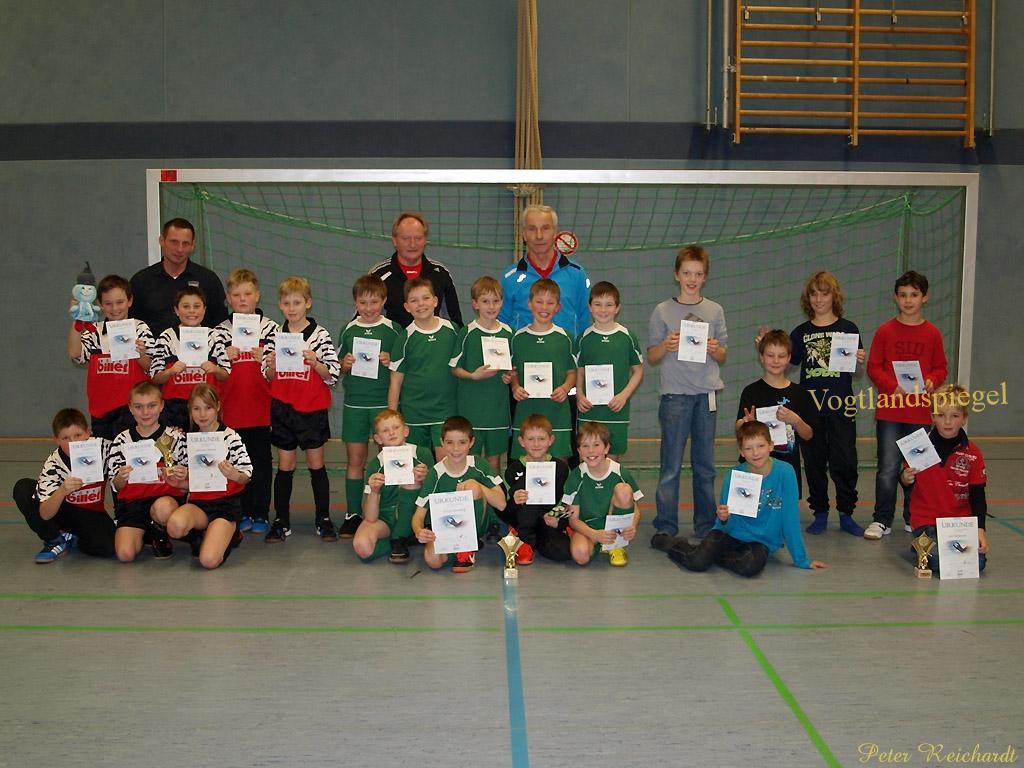 Hallenfußballturnier für Grundschulmannschaften im Rahmen der 32. Rudi-Geiger-Turniere