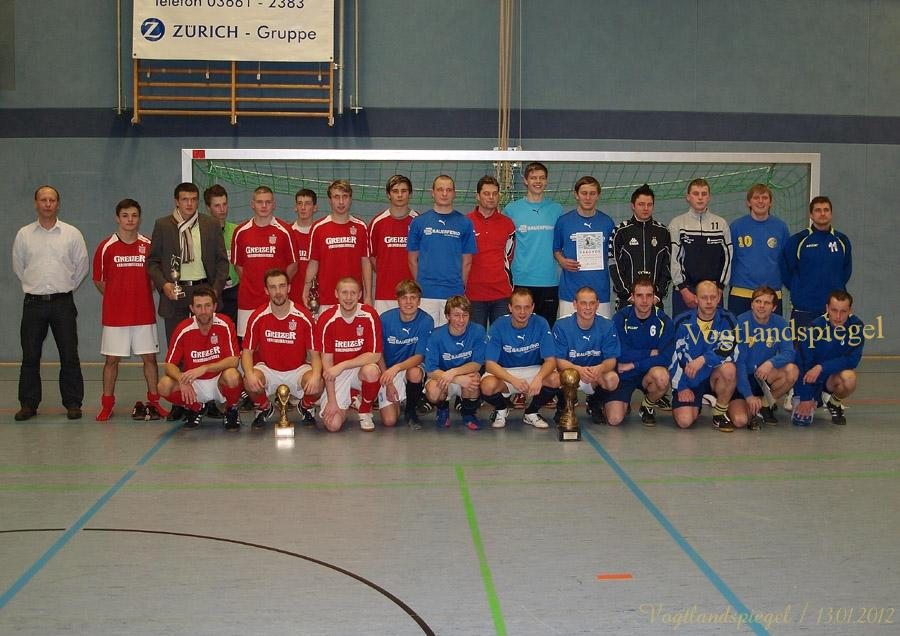 Siegermannschaften beim 19. Turnier um den Schloß Pils-Pokal 2012