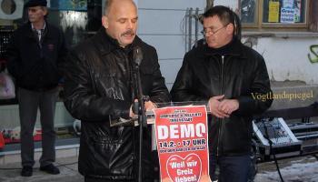 Demo in Greiz gegen Innenstadt-Verkehrskonzept