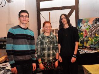 Im Rahmen ihrer Seminarfacharbeit luden Anne Münzner, Jakob Dillner und Tim Tittes ein