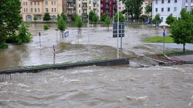 Hochwasser in Greiz