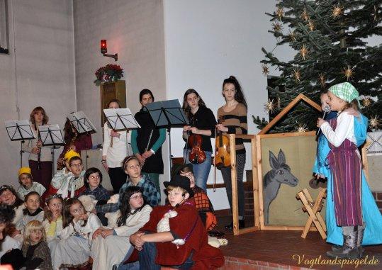 Krippenspiel in Katholischer Kirche Greiz aufgeführt