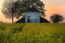 Romantischer Sonnenuntergang in Greiz-Obergrochlitz