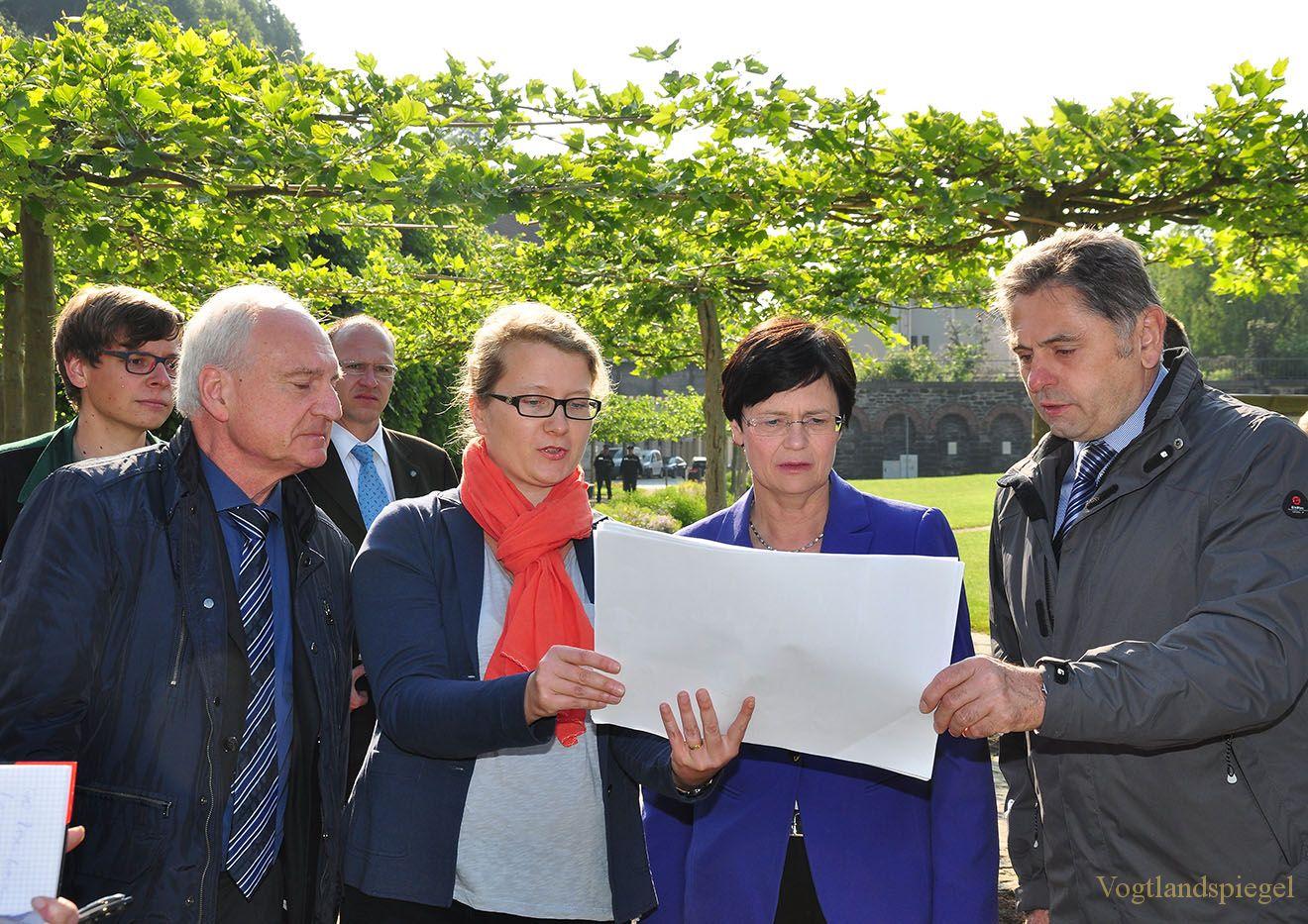 Thüringens Ministerpräsidentin besuchte Sommerpalais und Greizer Park