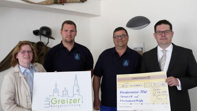 Hochwasserspende für Greizer Feuerwehr-Förderverein