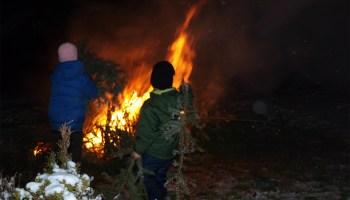 Neujahrsfeuer in Greiz-Gommla