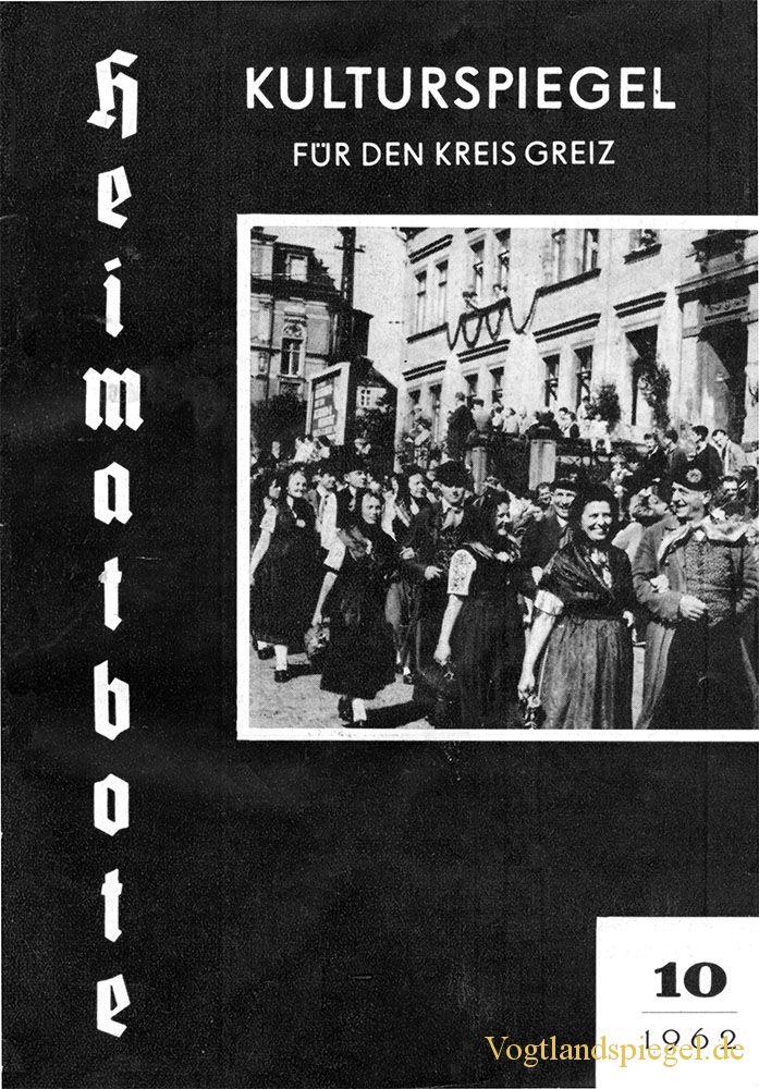 Greizer Heimatbote Oktober 1962