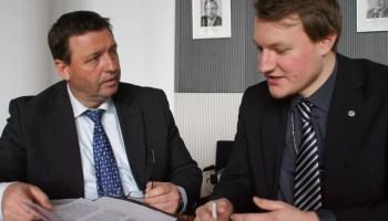 Martin Ißbrücker im Gespräch mit MdB Volkmar Vogel