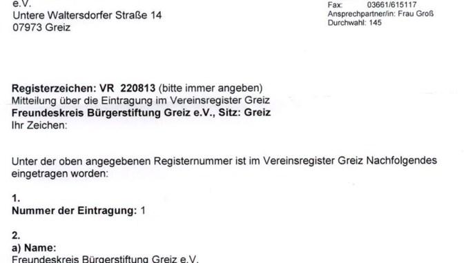 Freundeskreis Bürgerstiftung Greiz e.V.