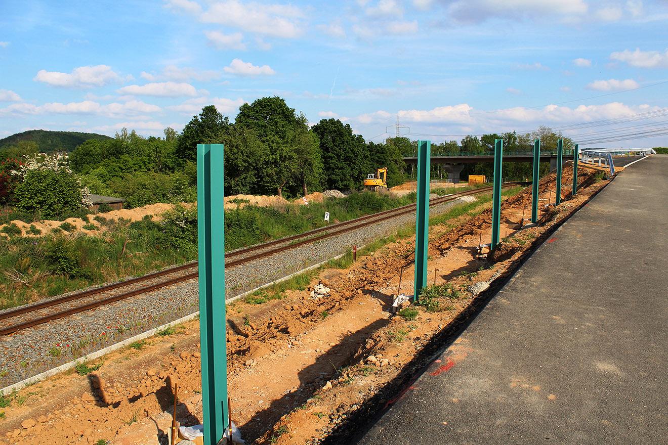 Bau der Querspange in Gera-Liebschwitz