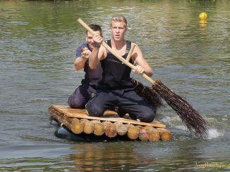 15. traditionelles Floßrennen der Freiwilligen Feuerwehr Zoghaus