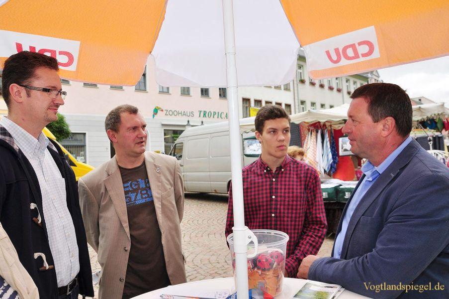 Infostand von MdB Volkmar Vogel (und MdL Christian Tischner (CDU)
