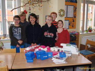 Tagesgruppe Greiz gewann wolliges Materialpaket