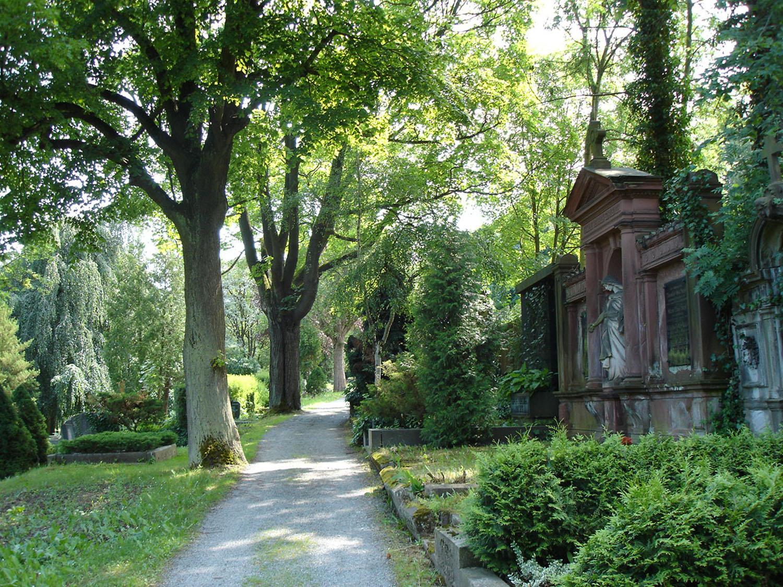 Blick in den Greizer Friedhof