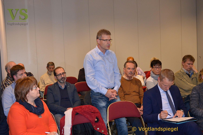 Landtagspräsident Christian Carius stellt sich den Fragen Greizer Initiativen