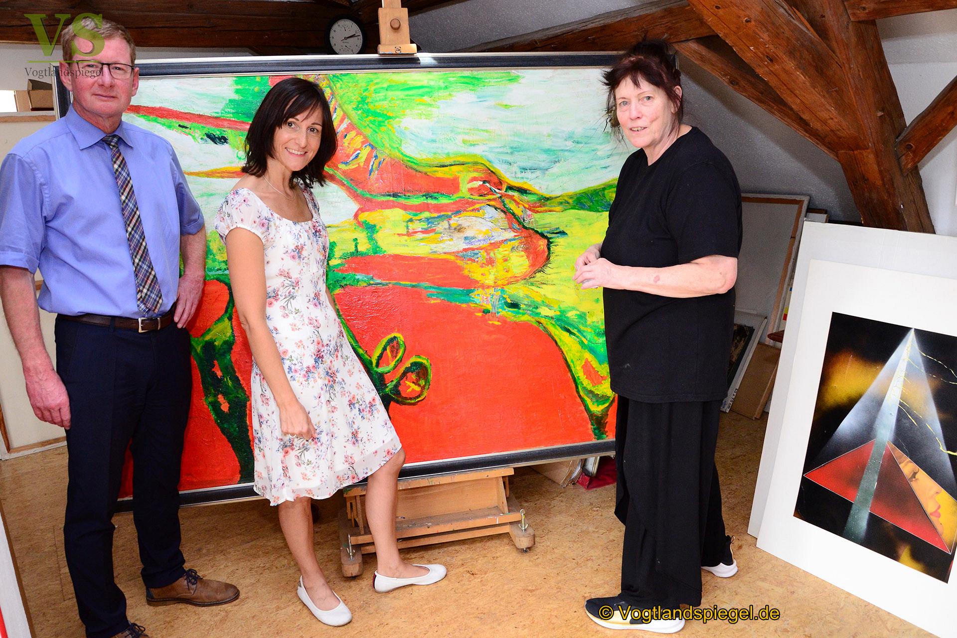Ölbilder von Klaus Renft – noch bis Ende August in Löhma zu sehen